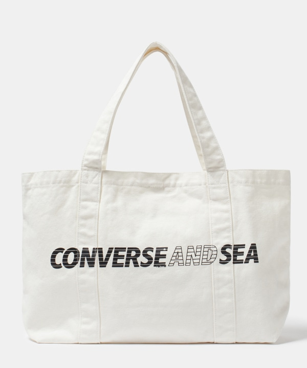 【CONVERSE TOKYO×WIND AND SEA】コラボトートバッグ 詳細画像 ホワイト 1