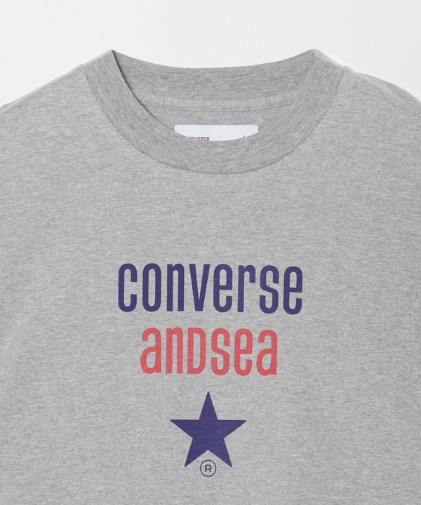 【CONVERSE TOKYO×WIND AND SEA】フロントロゴロンT 詳細画像 3
